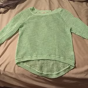 3/$30 Mossimo knit green, yellow, and blue sweater